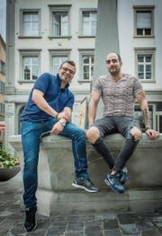 Stefano Rinaldi und Giuseppe Fedele arbeiten in Abtwil und St. Gallen als Köche. (Bild: Jil Lohse)