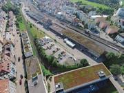 Das Güterbahnhofsareal wird bereits seit Sommer 2016 zwischengenutzt. (Bild: Ralph Ribi)