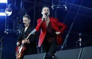 Frontmann Dave Gahan (rechts) und Martin Gore von Depeche Mode bei einem Auftritt in Zürich in diesem Juni. (Bild: SIGGI BUCHER (KEYSTONE))