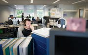 Mitarbeitende der Abraxas am St. Galler Hauptsitz: Das IT-Unternehmen will mit der VRSG fusionieren. (Bild: Urs Bucher)
