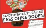 """""""Fass ohne Boden"""" - die St.Galler SVP bekämpft die Bauvorlage fürs Theater St.Gallen. (Bild: Screenshots)"""
