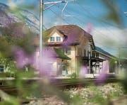 Der Bahnhof Salez-Sennwald, in dessen Nähe sich der Anschlag vor einem Jahr ereignete. (Bild: Benjamin Manser)