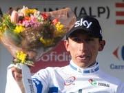 Egan Bernal - der Sieger im Bergzeitfahren an der Tour de Romandie (Bild: KEYSTONE/EPA EFE/QUIQUE GARCIA)