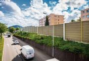 Schutzwände, wie hier an der Zürcher Strasse in St. Gallen, mindern die Lärmbelastung der Anwohner. (Bild: Urs Bucher)