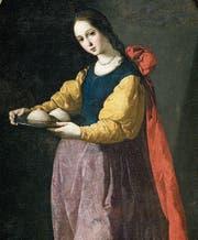Die heilige Agatha mit ihren abgeschnittenen Brüsten. (Bild: Francisco de Zurbarán)
