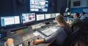 TVO-Regiepult: Beim Ostschweizer Regionalfernsehen ist die Belegschaft angesichts der No-Billag-Abstimmung ebenso besorgt wie jene der SRG. (Bild: Ralph Ribi (St. Gallen, 15. November 2017))