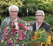 Zwei der 29 Gewinnerinnen des diesjährigen Blumenwettbewerbs. (Bild: Leonardo Da Riz)