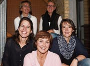 Das Ferienspass-Team (von oben links beginnend): Manuela Müller, Katya Halter, Helen Erni, Andrea Friederich und Sabrina Ziegler. (Bild: Yvonne Aldrovandi-Schläpfer)