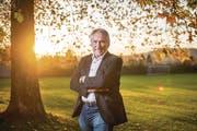 Vereinspräsident Robert Schmid auf der Sömmerliwiese in St. Gallen. (Bild: Urs Bucher)