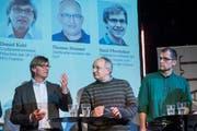 Am Montag diskutierten Politiker im Kugl die Mobilitäts-Initiative (Bild: Urs Bucher (Urs Bucher))