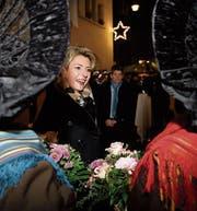 Karin Keller-Sutter an der Feier in Wil. (Bild: Gian Ehrenzeller/Keystone (29. November 2017))