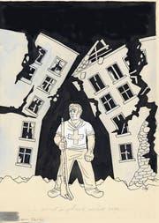 Wehrhaft: «Ond i gheie nüd om» von Jakob Nef war am 9.8.1940 das Titelblatt des «Nebelspalters». (Bild: PD)