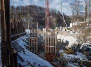 Im Sittertobel entsteht das Wasserkraftwerk Grafenau, das im Sommer in Betrieb genommen werden soll. (Bild: Michel Canonica)