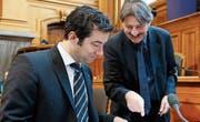 Andrea Caroni und Paul Rechsteiner waren die einzigen Ostschweizer Ständeräte, die für mehr Transparenz votierten. (Bild: Peter Klaunzer/KEY)