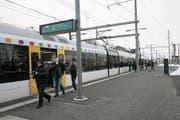 St.Gallen-Winkeln, Perron Nord: Hier fahren die FCSG-Züge ab. (Bild: (Ralph Ribi))