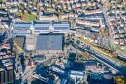 """Mit der Überdachung der Autobahn soll für die Olma """"Neuland"""" gewonnen werden. (Bild: Urs Bucher)"""