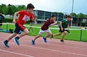 Für viele Kinder ein Höhepunkt des Sporttages: Der Wettlauf über 100 Meter. (Bild: PD)