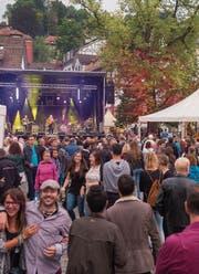Auch dieses Jahr wird der Gallusplatz zum Treffpunkt am St. Galler Fest. (Bild: Samuel Schalch (20. August 2016))