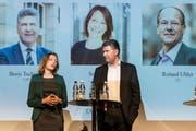 Sonja Lüthi und Boris Tschirky bei der Podiumsdiskussion. (Bild: Hanspeter Schiess)