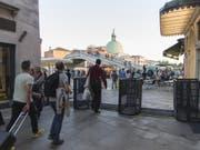 Dieses Wochenende werden die Venedig-Touristen Drehkreuze passieren müssen. (Bild: KEYSTONE/EPA ANSA/RICCARDO GREGOLIN)