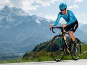 Jakob Fuglsang sorgte für den zweiten Etappensieg des Teams Astana an der diesjährigen Tour de Romandie (Bild: KEYSTONE/VALENTIN FLAURAUD)