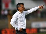 Boro Kuzmanovic bezog bei seinem Debüt als Trainer des FC St. Gallen eine Niederlage (Bild: KEYSTONE/TI-PRESS/GABRIELE PUTZU)