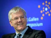 Roche-Präsident Christoph Franz wirbt für gute Beziehungen und entsprechende Verträge mit der EU. (Bild: KEYSTONE/GIAN EHRENZELLER)