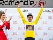 Nach der Baskenland-Rundfahrt auch Sieger der Tour de Romandie: der Slowene Primoz Roglic (Bild: KEYSTONE/JEAN-CHRISTOPHE BOTT)