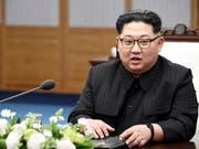 Will seinen Worten Taten folgen lassen und sein Atomtestgelände im Mai schliessen: Nordkoreas Machthaber Kim Jong Un. (Bild: KEYSTONE/AP Korea Summit Press Pool)