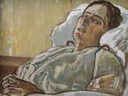 """Ferdinand Hodler (1853-1918) malte das Bild """"Valentine Godé-Darel im Krankenbett"""" 1914."""