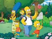 """""""The Simpsons"""" halten nun den Rekord als US-Serie mit den meisten Folgen. (Bild: KEYSTONE/AP Fox)"""