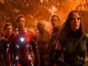 """Szenenbild aus """"Avengers: Infinity War"""". Der Science-Fiction-Film beherrschte am Wochenende vom 26. bis 29. April 2018 die Kinos der Welt. Auch in der Schweiz belegte er mit grossem Abstand Platz 1. (Bild: Keystone/AP Disney-Marvel/)"""