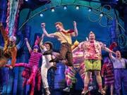 """Das Musical """"SpongeBob SquarePants"""" ist einer der aussichtsreichsten Kandidaten für einen Tony Award. (Bild: Keystone/AP/JOAN MARCUS)"""