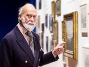 """""""Sie war eine talentierte Malerin"""": Prinz Michael of Kent spricht über seine Ururgrossmutter Victoria anlässlich einer Ausstellung im historischen Museum Luzern über einen Besuch der britischen Herrscherin von 150 Jahren. (Bild: KEYSTONE/ALEXANDRA WEY)"""