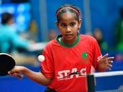 Die erst 10-jährige Fathimath Dheema Ali spielt an der Tischtennis-Team-WM in Schweden (Bild: KEYSTONE/EPA TT NEWS AGENCY/JONAS EKSTROMER)