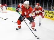 Noch nie zuvor an einer WM spielte die Schweiz mit so vielen NHL-Spielern wie in Kopenhagen. Im Bild Nino Niederreiter (Minnesota) beim 5:2 gegen Weissrussland (Bild: KEYSTONE/SALVATORE DI NOLFI)