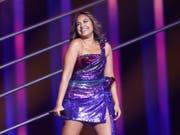 Die australische Teilnehmerin Jessica Mauboy hat den Einzug in den Endausscheid des Eurovision Song Contest geschafft. (Bild: KEYSTONE/AP/ARMANDO FRANCA)