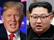 Das Gipfeltreffen zwischen US-Präsident Donald Trump (links) und dem nordkoreanischen Machthaber Kim Jong Un soll am 12. Juni in Singapur stattfinden. (Archivbilder) (Bild: Keystone/AP/MANUEL BALCE CENETA)