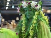 """Eine Cosplayerin am Eröffnungstag der """"Fantasy Basel - The Swiss Comic Con 2018"""". (Bild: Keystone/GEORGIOS KEFALAS)"""