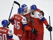 David Krejic, die Nummer 46, war mit vier Skorerpunkten der überragende Spieler der Tschechen (Bild: KEYSTONE/AP TT News Agency/LARS MOELLER)