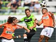 Alexander Gerndt (Mitte) schoss gegen Lausanne das 1:0 (Bild: KEYSTONE/TI-PRESS/GABRIELE PUTZU)