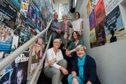 Der Vorstand des Kulturvereins Tropfstei Ruswil freut sich über den Annerkennungspreis der Gemeinde Ruswil. Bild: Dominik Wunderli (5. Mai 2018)