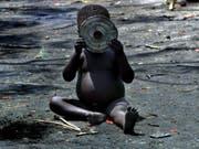 In der Kongo-Provinz Kasai sind weit über 700'000 Kinder akut mangelernährt, wie das Uno-Kinderhilfswerk Unicef mitteilte. (Bild: KEYSTONE/EPA/STEPHEN MORRISON)