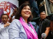 Die von ihren Kollegen abgesetzte Präsidentin des Obersten Gerichts der Philippinen, Maria Lourdes Sereno. (Bild: KEYSTONE/AP/BULLIT MARQUEZ)
