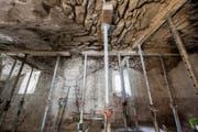 Eine einsturzgefährdete Gewölbedecke (Bilder: Baudepartement Stadt Zug)