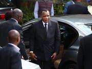 20 Jahre Haftstrafe: Auf den Präsidenten von Kongo, Denis Sassou-Nguesso, soll ein Anschlag geplant worden sein. (Bild: KEYSTONE/EPA/PHILL MAGAKOE)