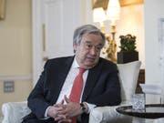 Uno-Generalsekretär Antonio Guterres hat die Streitparteien im Nahen Osten zur Besonnenheit aufgefordert. (Bild: KEYSTONE/EPA Bloomberg POOL/SIMON DAWSON / POOL)