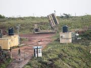 Israelisches Raketenabwehrsystem auf den besetzten Golanhöhen an der israelisch-syrischen Grenze (Bild: KEYSTONE/EPA/ATEF SAFADI)