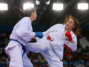 Zum zweiten Mal Karate-Europameisterin: Elena Quirici (Bild: KEYSTONE/EPA/ZURAB KURTSIKIDZE)