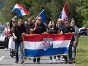 Tausende haben in Österreich der Ermordung faschistischer Ustascha-Einheiten gedacht. (Bild: KEYSTONE/EPA/ALEX HALADA)